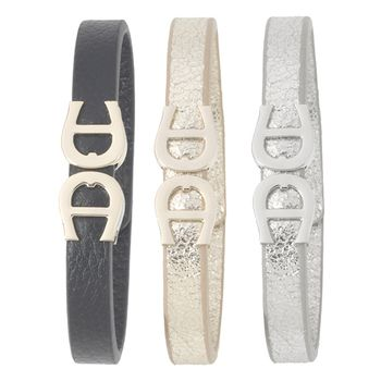Aigner 3-Piece Leather Armbands Set
