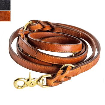 Cloud7 HYDE PARK Braided Leather Dog Leash S