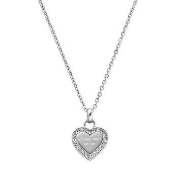 Michael Kors BRILLIANCE Necklace with Heart Charm - Silver