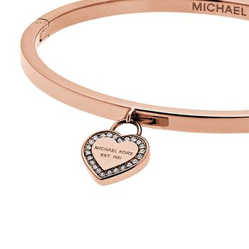 Michael Kors BRILLIANCE Women's Bangle with Heart Tag