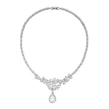 Pica LéLa Clear Crystal Necklace & Earrings Set