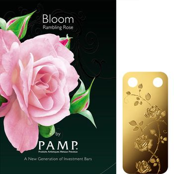 PAMP Bloom Collection Gold Bar